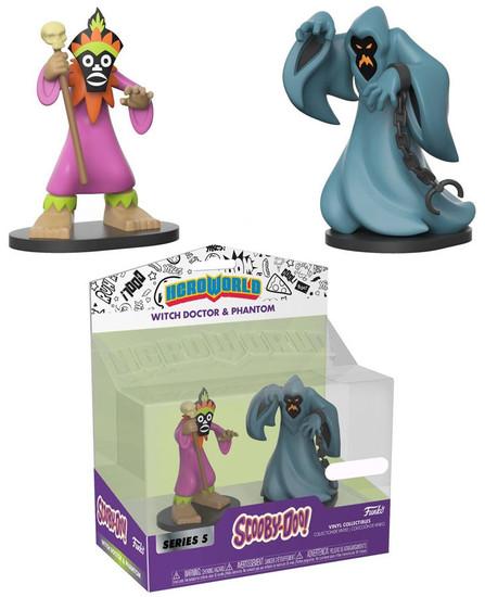Funko Scooby Doo Hero World Series 5 Witch Doctor & Phantom Exclusive 4-Inch Vinyl Figure 2-Pack