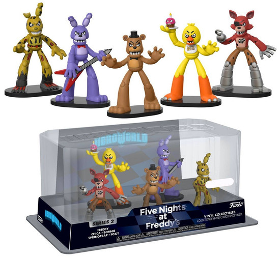 Funko Five Nights at Freddy's Hero World Series 2 Freddy, Chica, Bonnie, Springtrap & Foxy Exclusive 4-Inch Vinyl Figure 5-Pack
