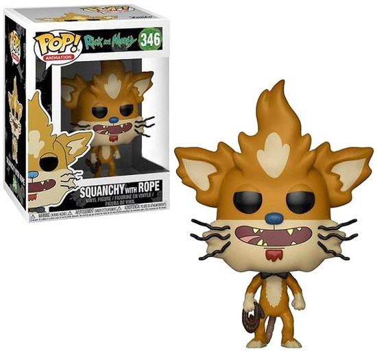 Funko Rick & Morty POP! Animation Squanchy with Rope Exclusive Vinyl Figure #346
