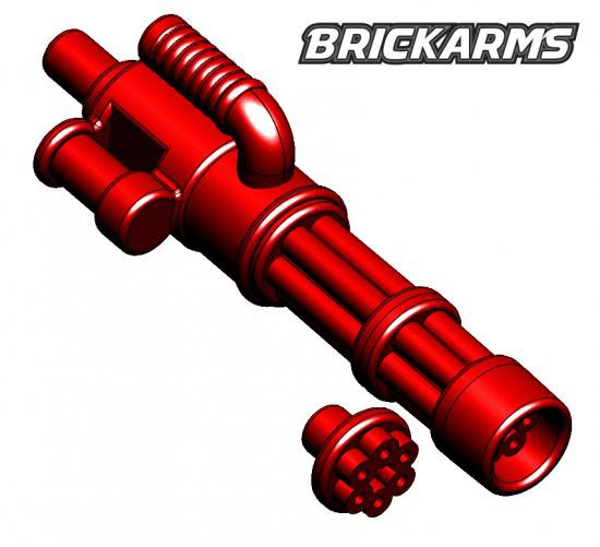 BrickArms Minigun 2.5-Inch [Trans Red with No Ammo]