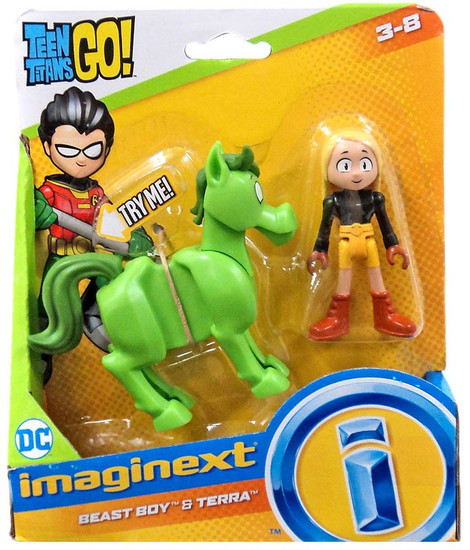 Fisher Price Teen Titans Go! Imaginext Beast Boy & Terra 3-Inch Figure Set