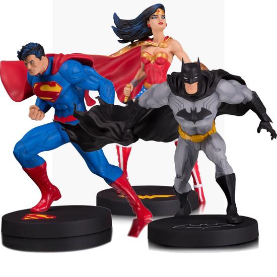 DC Designer Series Batman, Superman & Wonder Woman 7-Inch Statue 3-Pack [Jim Lee]