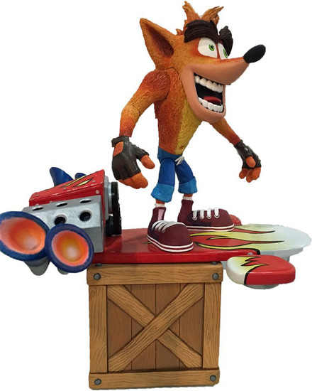 NECA Crash Bandicoot Crash Deluxe Action Figure [with Hoverboard]