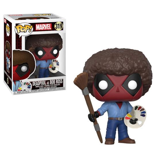Funko POP! Marvel Deadpool as Bob Ross Vinyl Bobble Head #319