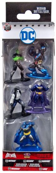 DC Nano Metalfigs Batman, Bizarro, Darkseid, Brainiac & Lobo 1.5-Inch Diecast Figure 5-Pack