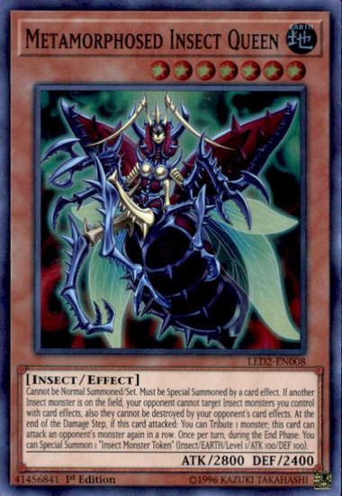 YuGiOh Legendary Duelists: Ancient Millennium Super Rare Metamorphosed Insect Queen LED2-EN008