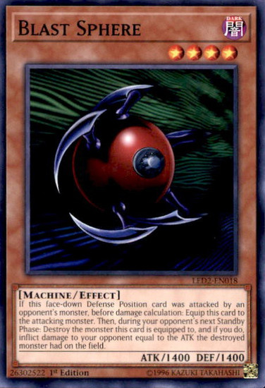 YuGiOh Legendary Duelists: Ancient Millennium Common Blast Sphere LED2-EN018