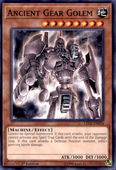 YuGiOh Legendary Duelists: Ancient Millennium Common Ancient Gear Golem LED2-EN034
