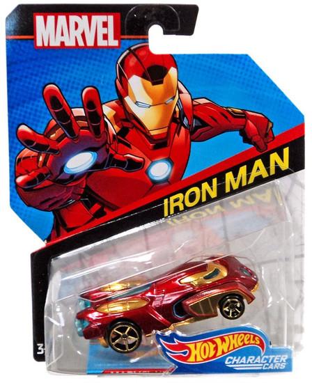 Hot Wheels Marvel Character Cars Iron Man Die-Cast Car