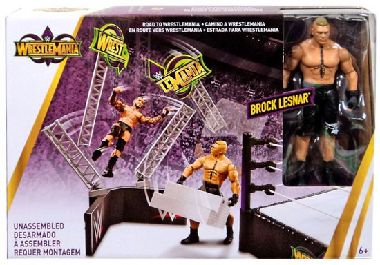 WWE Wrestling Road to Wrestlemania Playset [Brock Lesnar!]