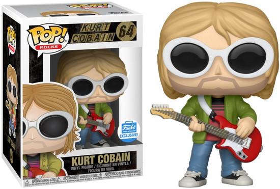 Funko Nirvana POP! Rocks Kurt Cobain Exclusive Vinyl Figure #64 [White Sunglasses, Red Guitar]