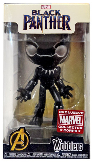 Funko Marvel Wacky Wobbler Black Panther Exclusive Bobble Head