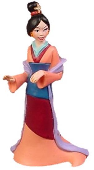 Disney Princess Mulan Exclusive 3.5-Inch PVC Figure [Hair Up Loose]