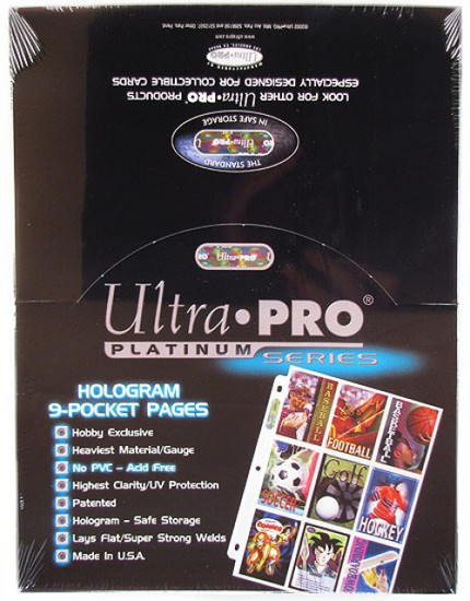 Ultra Pro Card Supplies Platinum Series 9-Pocket Pages [100 Count]