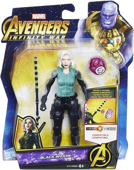 Marvel Avengers Infinity War Black Widow Action Figure [with Stone]