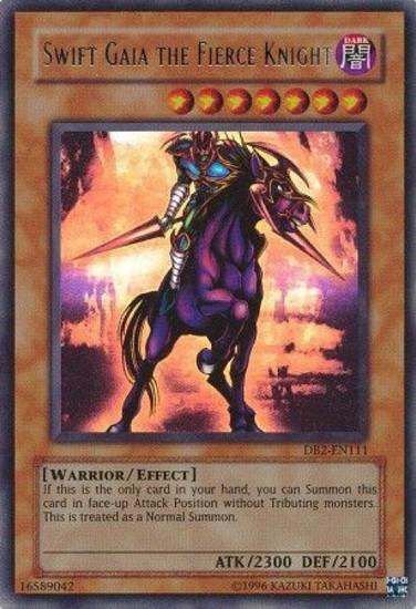 YuGiOh Dark Beginning 2 Ultra Rare Swift Gaia the Fierce Knight DB2-EN111