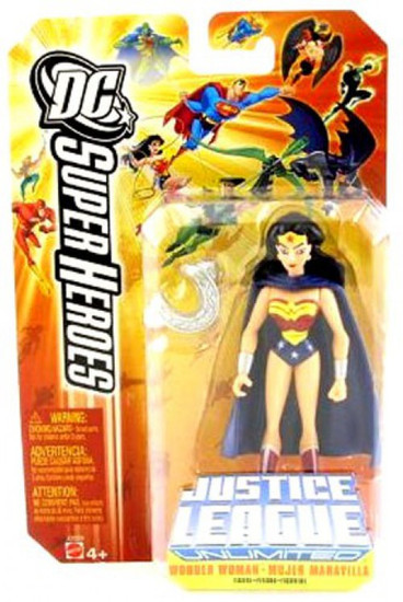 DC Justice League Unlimited Super Heroes Wonder Woman Action Figure [Cape & Armor Yellow Card]