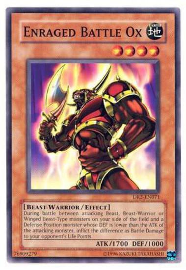 YuGiOh Dark Revelation 2 Common Enraged Battle Ox DR2-EN071