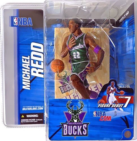 McFarlane Toys NBA Milwaukee Bucks Sports Picks Series 7 Michael Redd Action Figure [Green Jersey Variant]
