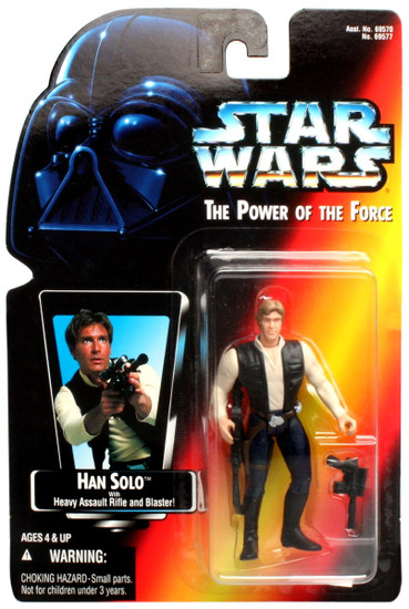 Star Wars A New Hope Power of the Force POTF2 Han Solo Action Figure