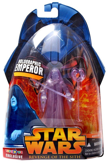 Star Wars Revenge of the Sith 2005 Holographic Emperor Exclusive Action Figure