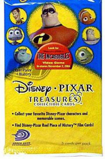Disney / Pixar Incredibles Treasures Trading Card Pack [5 Cards]