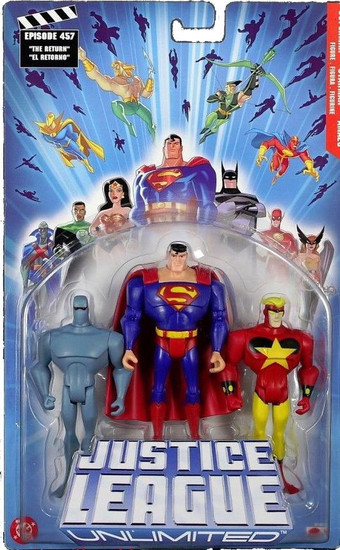Justice League Unlimited Series 2 Superman, Starman & Amazo Action Figure 3-Pack