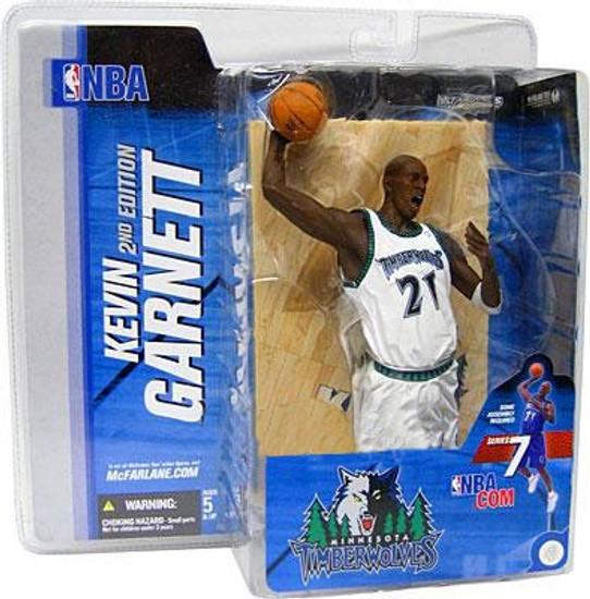 McFarlane Toys NBA Minnesota Timberwolves Sports Picks Series 7 Kevin Garnett Action Figure [White Jersey Variant]