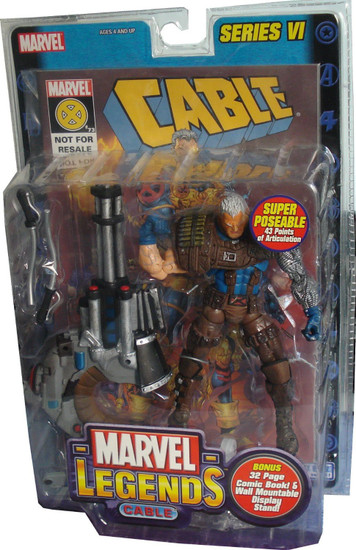 Marvel Legends Series 6 Cable Action Figure [Brown Pants Variant]