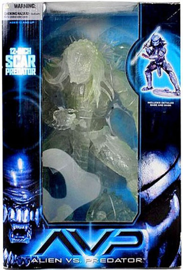 McFarlane Toys Alien vs Predator Alien vs. Predator Movie Stealth Scar Predator Deluxe Action Figure