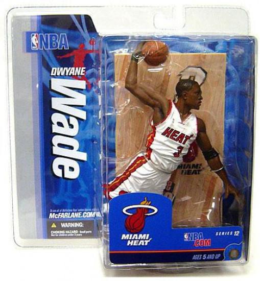 McFarlane Toys NBA Miami Heat Sports Picks Series 12 Dwyane Wade Action Figure [White Jersey]