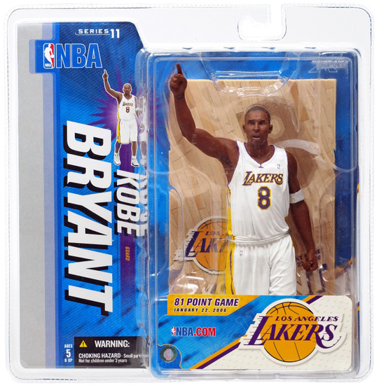 McFarlane Toys NBA Los Angeles Lakers Sports Picks Series 11 Kobe Bryant Action Figure [White Jersey]