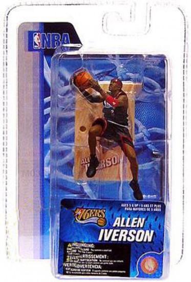 McFarlane Toys NBA Philadelphia 76ers Sports Picks 3 Inch Mini Series 4 Allen Iverson Mini Figure