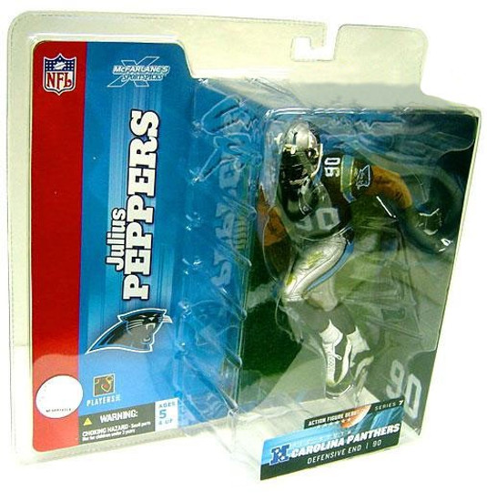 McFarlane Toys NFL Carolina Panthers Sports Picks Series 7 Julius Peppers Action Figure [Black Jersey]
