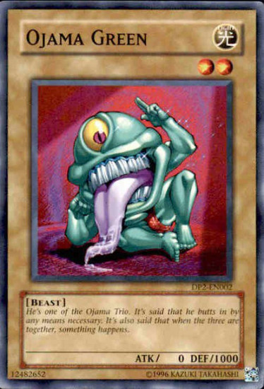 YuGiOh GX Trading Card Game Duelist Pack Chazz Common Ojama Green DP2-EN002