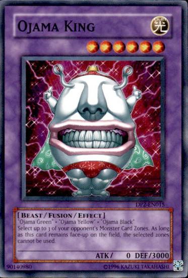 YuGiOh GX Trading Card Game Duelist Pack Chazz Common Ojama King DP2-EN015