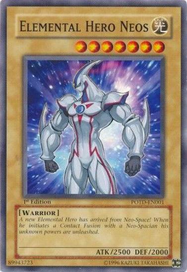 YuGiOh GX Trading Card Game Power of the Duelist Common Elemental Hero Neos POTD-EN001