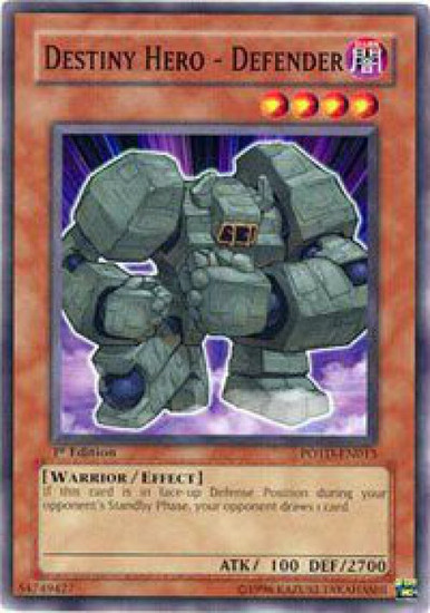 YuGiOh GX Trading Card Game Power of the Duelist Common Destiny Hero - Defender POTD-EN013