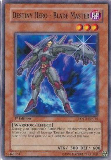 YuGiOh GX Trading Card Game Power of the Duelist Common Destiny Hero - Blade Master POTD-EN015