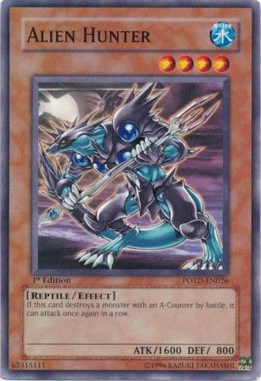 YuGiOh GX Trading Card Game Power of the Duelist Common Alien Hunter POTD-EN026