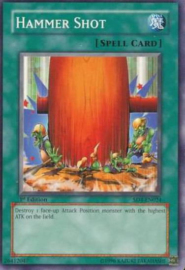 YuGiOh GX Trading Card Game Structure Deck: Fury from the Deep Common Hammer Shot SD4-EN024