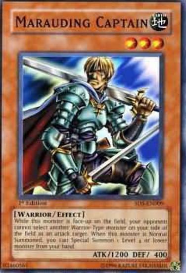 YuGiOh GX Trading Card Game Structure Deck: Warrior's Triumph Marauding Captain SD5-EN009