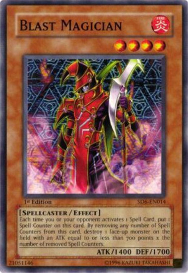 YuGiOh Structure Deck: Spellcaster's Judgment Common Blast Magician SD6-EN014