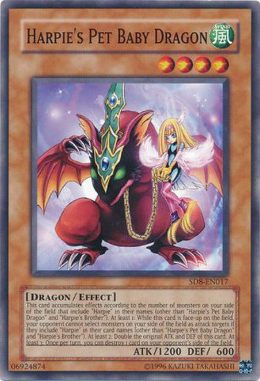 YuGiOh GX Trading Card Game Structure Deck: Lord of the Storm Common Harpie's Pet Baby Dragon SD8-EN017