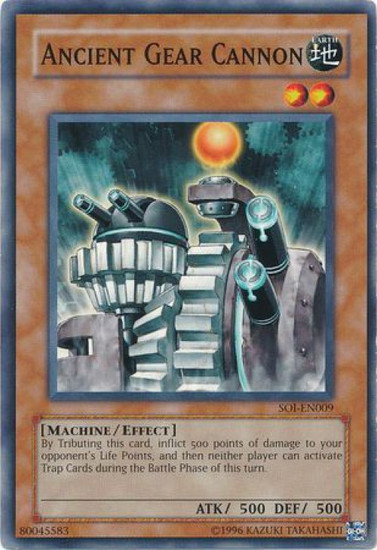 YuGiOh GX Trading Card Game Shadow of Infinity Common Ancient Gear Cannon SOI-EN009