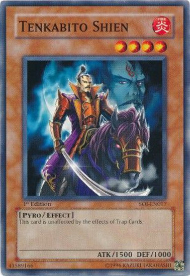 YuGiOh GX Trading Card Game Shadow of Infinity Common Tenkabito Shien SOI-EN017