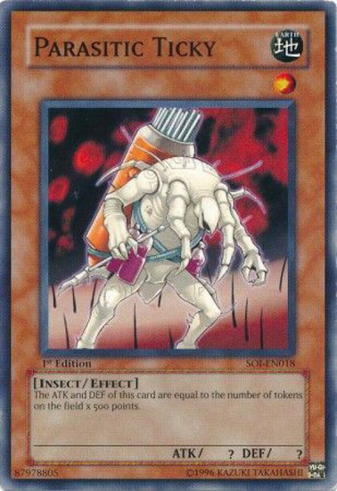 YuGiOh GX Trading Card Game Shadow of Infinity Common Parasitic Ticky SOI-EN018