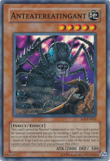 YuGiOh GX Trading Card Game Shadow of Infinity Common Anteatereatingant SOI-EN022