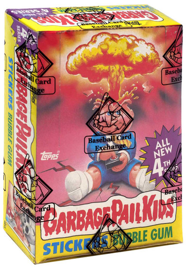 Garbage Pail Kids Topps All New 4th Series Trading Card Sticker Box [48 Packs, With Poster, BBCE Wrapped!]