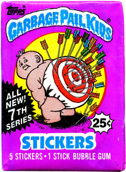 Garbage Pail Kids Topps All New 7th Series Trading Card Sticker Pack [5 Stickers]